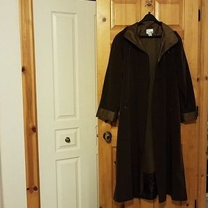 Coat with detachable liner and hood